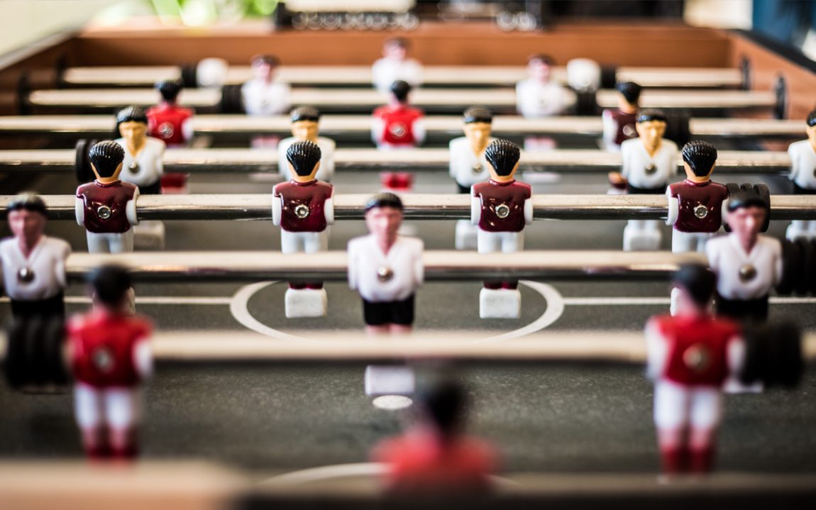 A football table game